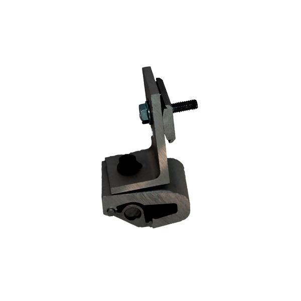 SNAPNRACK, STANDARD BASE SEAM CLAMP ASSEMBLY W/ L-FOOT, BLACK BOLT