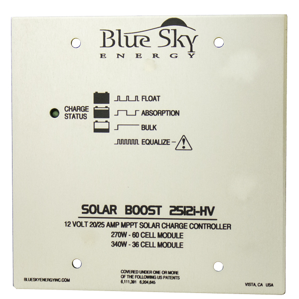 BLUE SKY, SB2512i-HV, MPPT CONTROL, SOLAR BOOST CHARGE CONTROL 60 CELL MODULE IPN 20A 12V