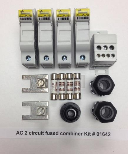 TERMINAL BLOCK, SOLADECK 01642 AC FUSED COMBINER KIT 2 CIRCUITS