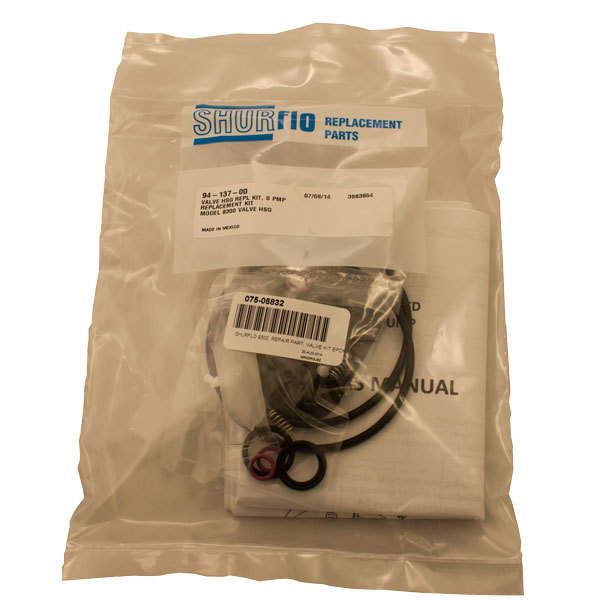 SHURFLO 9300, REPAIR PART, VALVE KIT EPDM - 94-137-00