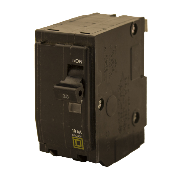 CIRCUIT BREAKER, QO, 10A, 120240VAC / 48VDC MAX, 2-POLE, SQUARE D, 1.5IN, QO210