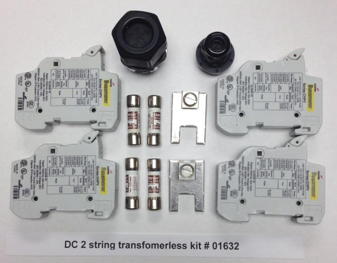 TERMINAL BLOCK, SOLADECK 01634 DC FUSED COMBINER KIT 4 STRING, TRANSFORMERLESS