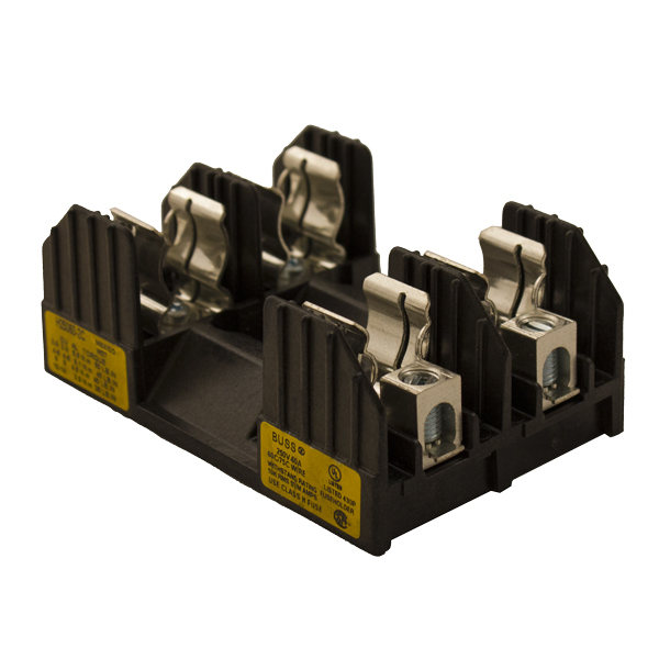 FUSE BLOCK, FOR CLASS H/R FUSES, 40-60A 2-POLE