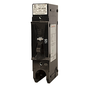 CIRCUIT BREAKER, 125 DCA, 125 VDC, 1 POLE, , 1 IN WIDE PANEL MOUNT, 1/4 IN STUDS, REMOTE TRIP CAPABLE, MIDNITE MNEDC125RT