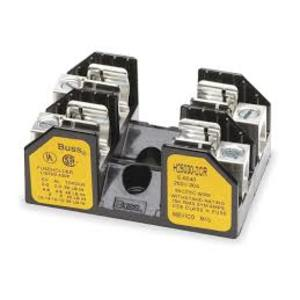 FUSE BLOCK, FOR CLASS H/R FUSES, 10-30A, 2-POLE