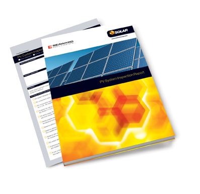 SEAWARD SOLAR, 396A954, PV INSPECTION REPORT PAD, A4 SIZE, (25 COPIES)