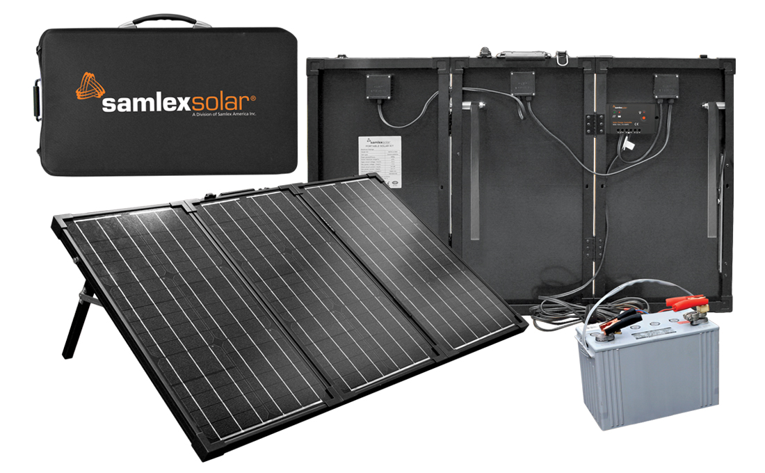 SAMLEX, MSK-135, PORTABLE FOLDING SYSTEM WITH RACK, 135W SAMLEX PV, DC-ONLY, 12 VDC, NO BATTERY