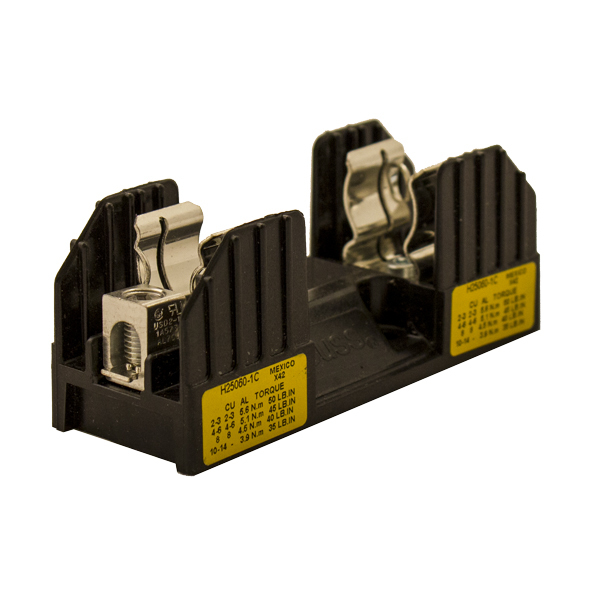 FUSE BLOCK, FOR CLASS H/R FUSES, 40-60A 1-POLE