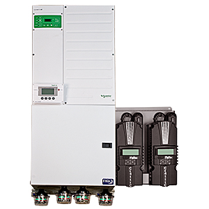MIDNITE, MNXWP6848-2CL150, PRE-WIRED POWER PANEL 6.8 KW, 48 VDC, 120/240 VAC, XW+6848, 2xCL150