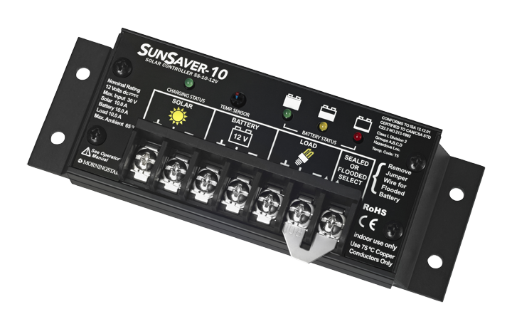 MORNINGSTAR, SS-10L-24V, PWM CONTROL, SUNSAVER CHARGE/LOAD CONTROL 10A 24V