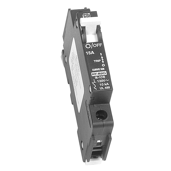 CIRCUIT BREAKER, 10A 277VAC MAX, 1-POLE, OUTBACK DIN-10-AC-277