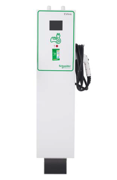 EV CHARGING STATION, SCHNEIDER ELECTRIC, EV230PSRACG, OUTDOOR, L2, PEDESTAL, CHARGEPOINT, GATEWAY