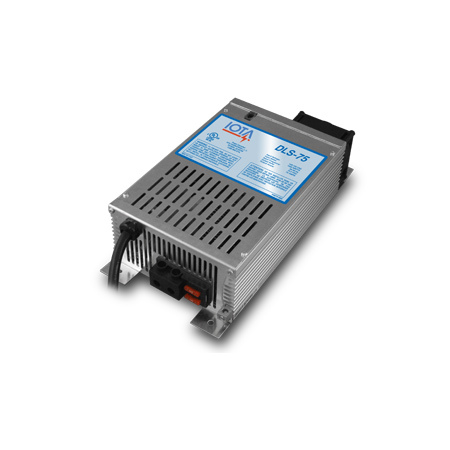 IOTA, DLS-75/IQ4, BATTERY CHARGER, 75A 12VDC 120VAC WITH IQ4 CONTROLLER