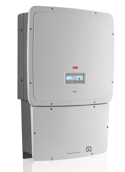 ABB, TRIO-27.6-TL-OUTD-S1B-US-480-A, NON-ISOLATED STRING INVERTER, 27.6 KW, 3 PH 480VAC, DUAL MPPT, 8-STRING FUSED DC/AC DISCONNECT