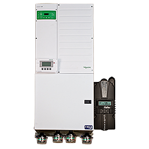 MIDNITE, MNXWP5548-CL150, PRE-WIRED POWER PANEL 5.5 KW, 48 VDC, 120/240 VAC, XW+5548, CL150