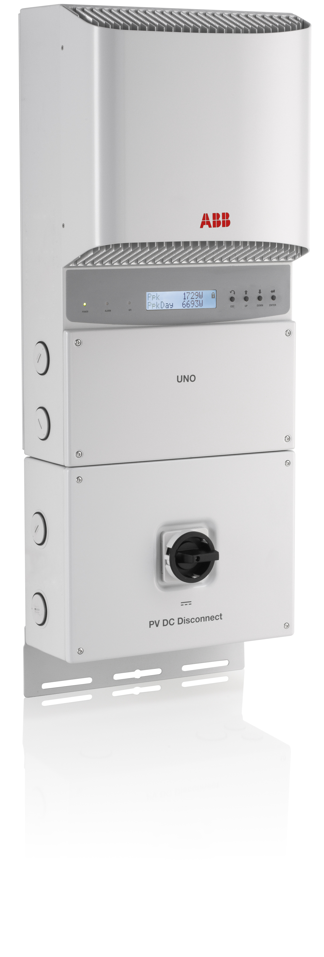 ABB, PVI-3.8-OUTD-S-US-A, NON-ISOLATED STRING INVERTER, 3800W, 208/240/277 VAC, DUAL MPPT WITH AFCI