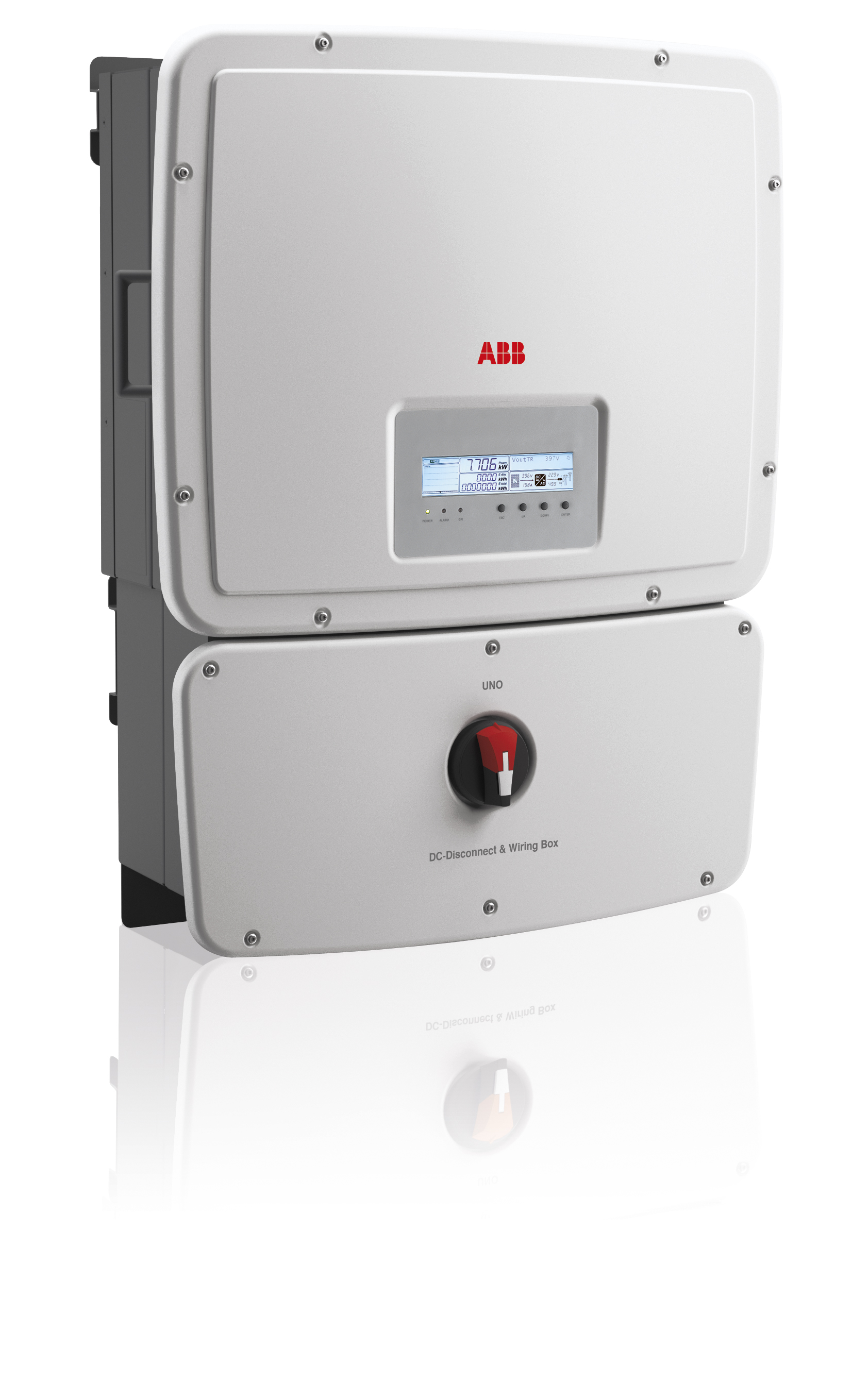 ABB, UNO-7.6-TL-OUTD-S-US-A-BWP, NON-ISOLATED STRING INVERTER, 7600W, 208/240/277VAC, DUAL MPPT WITH AFCI, 5 YR WARRANTY