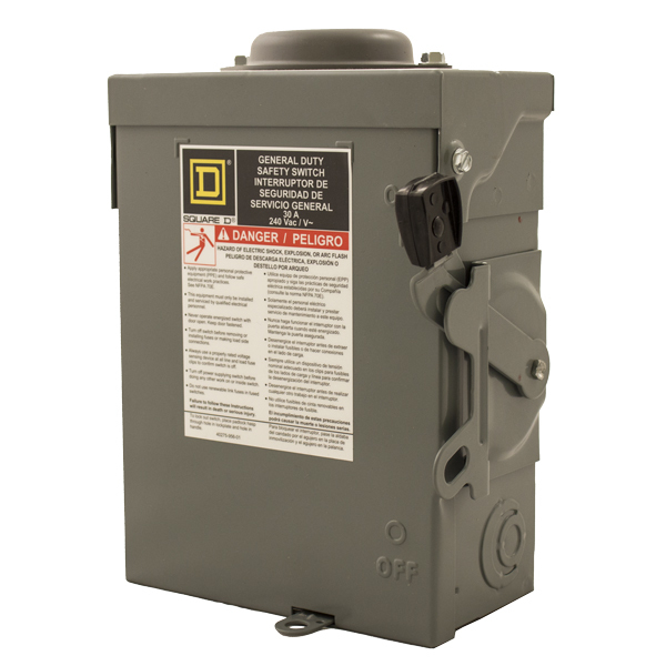 Square D 240VAC General-Duty Safety Switch Disconnect