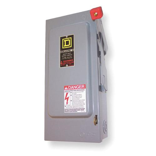 DISCONNECT, SQUARE D, H363DS, 100A, 600V, 3P, FUSIBLE, NEMA 4X
