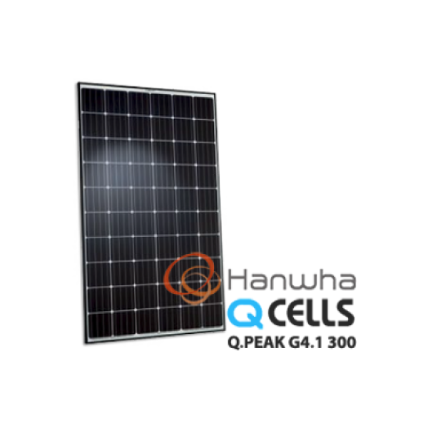HANWHA, Q.PEAK-G4.1 300, PV MODULES, 300W, MONO/BLACK FRAME, MC4, 32MM, KOREA