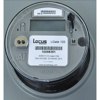 LOCUS ENERGY, LGATE 120-5YR, METER/DATA LOGGER, SINGLE PHASE METER, BUILT-IN CELLULAR & ETHERNET, FORM 2S, 200A MAX, 5 YR MONTIORING