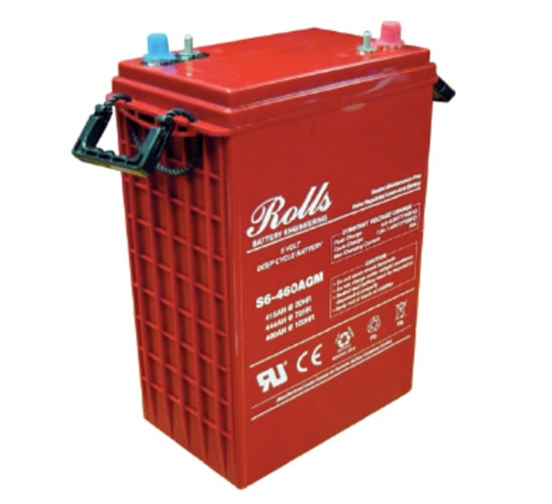 ROLLS, S-460AGM, AGM BATTERY, 6V, 415 AH AT 20HR