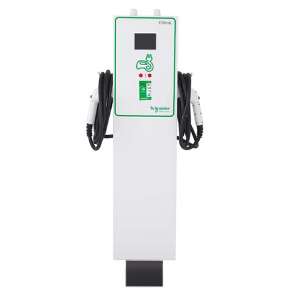 EV CHARGING STATION, SCHNEIDER ELECTRIC, EV230PDRACG, OUTDOOR, L2, PEDESTAL, DUAL OUTPUT, CHARGEPOINT, GATEWAY